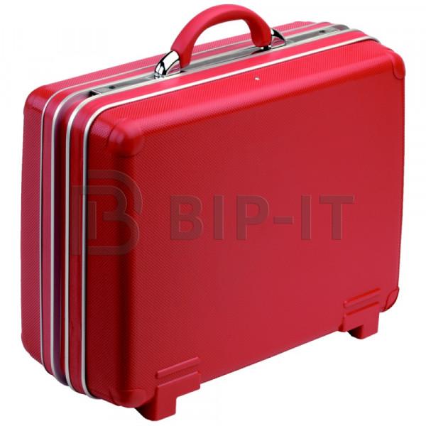 Инструментальный чемодан из жесткого материала большой, красный