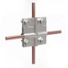 GALMAR Зажим крестообразный для соединения двух проводников (пол. <36мм, кр. 28-78мм2; нержавеющая сталь)