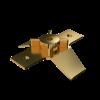 GALMAR GL-11525 Коньковый держатель для молниеприёмника (резьба M16; подключение токоотвода d10 мм; бронза)