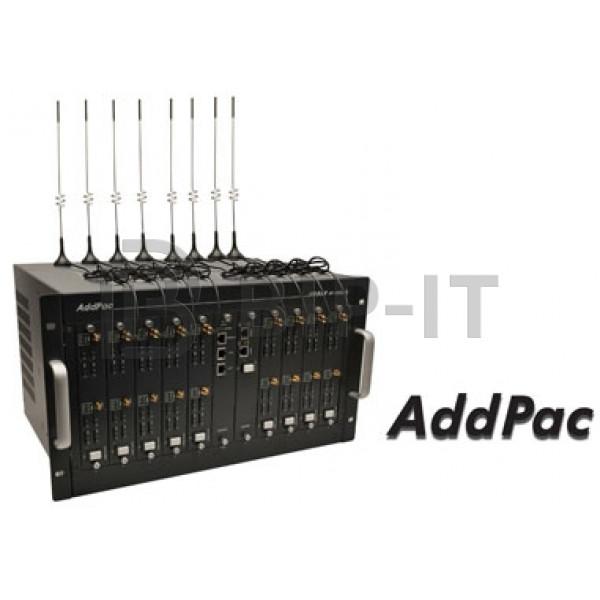 AP-GS5000, базовое шасси с портами 2x10/100Mbps Ethernet (SIP & H.323), 10 слотов, расширение до 80 GSM каналов