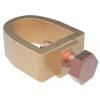 GALMAR Зажим одноболтовый для подключения полосы (D12, пол. =26*20 мм, бронза)