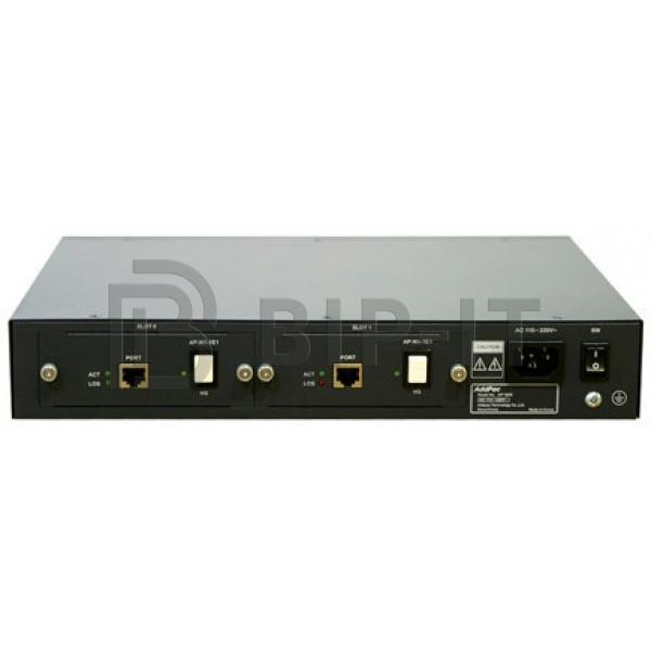 AP1800-2E1 Цифровой VoIP шлюз 2E1(60CH)& 2x100TX Eth