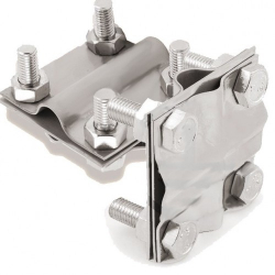 GALMAR Зажим крестообразный для подключения проводника (D17; пол. <40мм, кр. <78мм2; нержавеющая сталь)