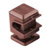 Держатель проводника круглого 6-8 мм коричневый, высота 16 мм, пластик
