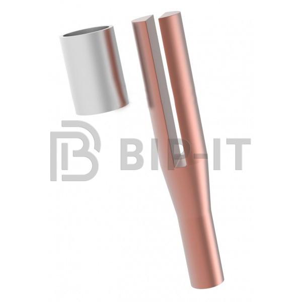 GALMAR Зажим безболтовой для соединения стержня заземления с проволокой (D8)