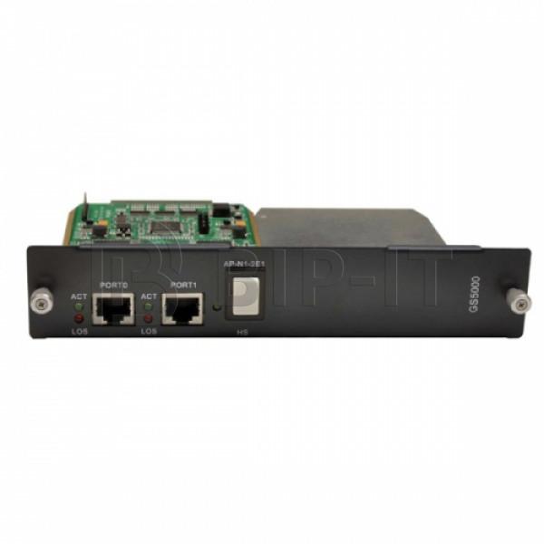 AddPac AP-GS-2E1, интерфейсный модуль 2xE1/T1 (2xRJ45) для базового шасси ADD-AP-GS5000
