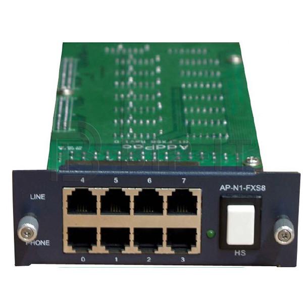 AP-GS-FXS8 - интерфейсный модуль 8 FXS портов (RJ11) для базового шасси