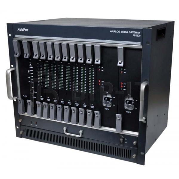 AP5800 шасси для установки 8 модулей MGSA, 60% блокируемая коммутация, 2x10/100/1000T