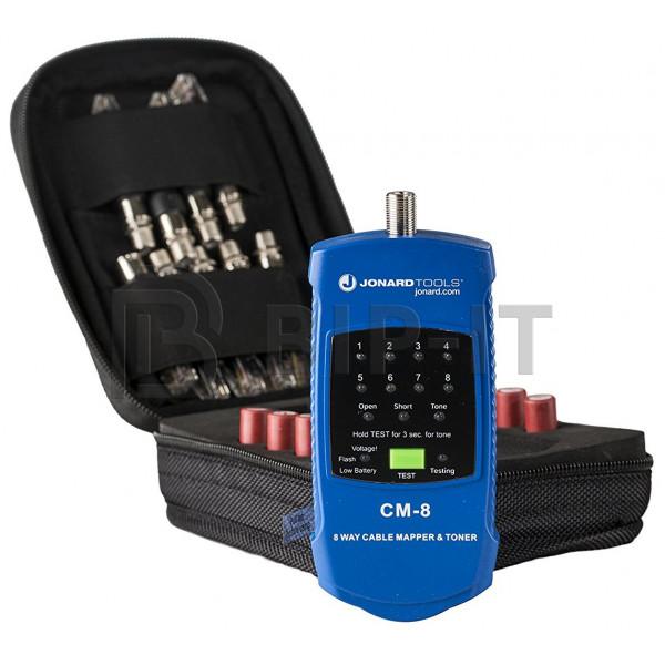 Jonard CM-17 - кабельный тестер для коаксиального кабеля и витой пары с идентификаторами